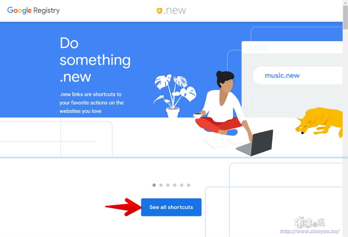 Google 推出的.NEW域名整合多項服務
