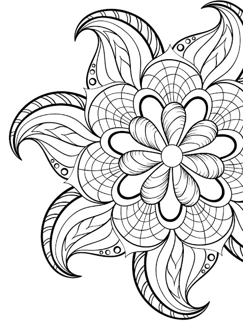 coloriage adulte floral