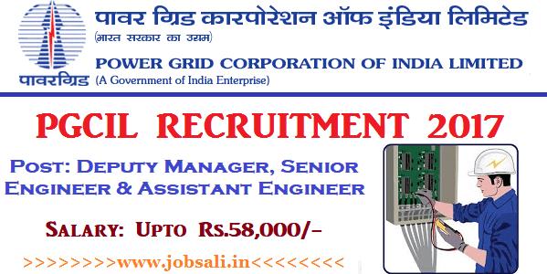 Power Grid Corporation Recruitment 2017, PGCIL Engineer Recruitment 2017, Engineering Jobs in India
