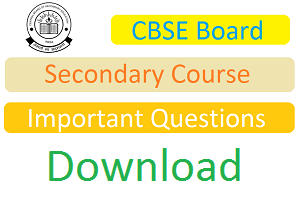 CBSE 10th IMP Questions 2017