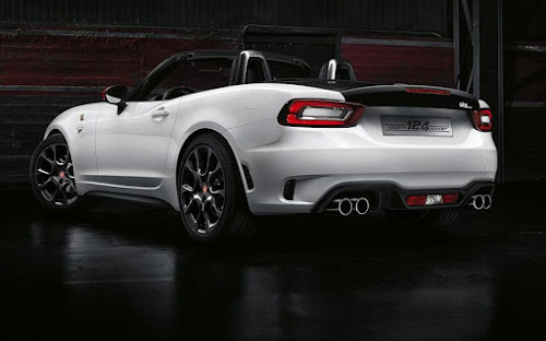 2017 Abarth 124 spider rear 3/4 view