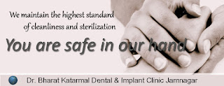 we maintain the highest standard of cleanliness and sterilization at Dr. Bharat Katarmal dental and implant clinic jamnagar, Gujarat ,India
