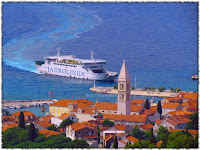 Red plovidbe Jadrolinija, trajekti i katamaran Supetar slike otok Brač Online