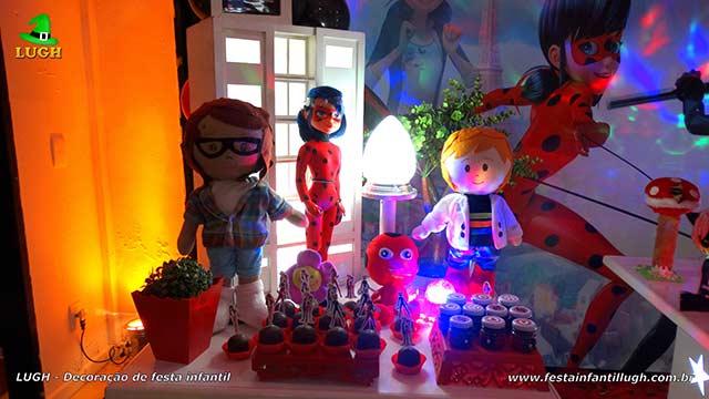 Decoração tema Ladybug e Cat Noir - festa de aniversário infantil