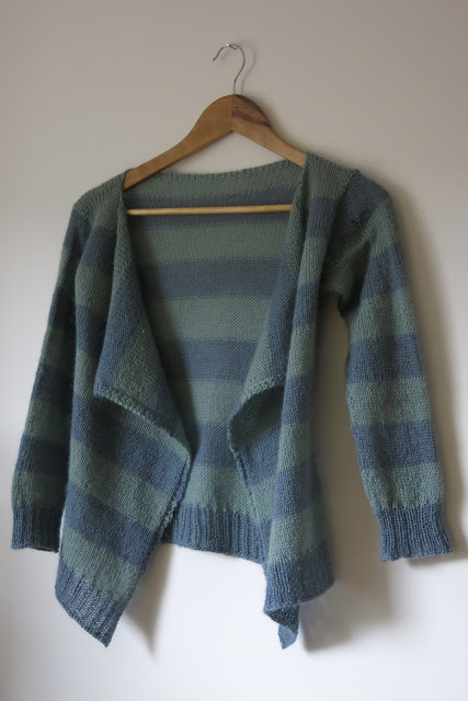 striped cardigan knitting pattern