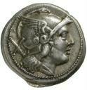 anverso del primer denario romano
