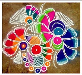 happy Holi 2018 Rangoli