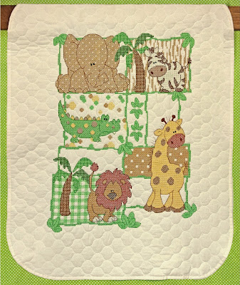 Kimba Stamped Baby Quilt Kit