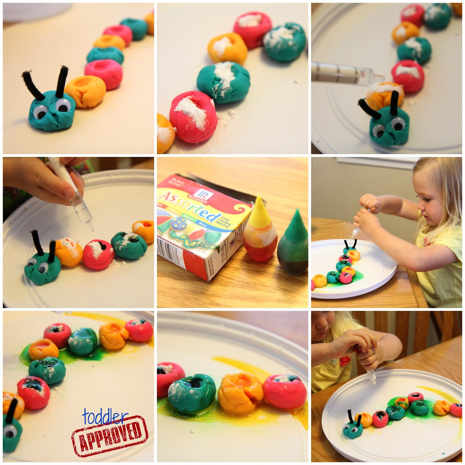 Toddler Approved Fizzing Caterpillar Science Bug Week