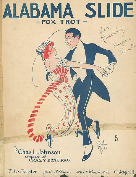 Παλιά αφίσα του χορού Φοξ Τροτ / Fox Trot dance vintage poster