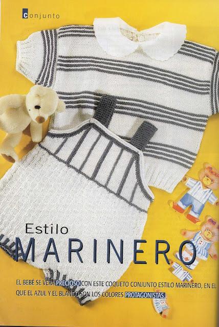 Patrón #1604: Estilo Marinero a Dos Agujas.