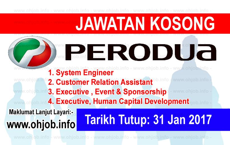 Jawatan Kerja Kosong Perodua Sales logo www.ohjob.info januari 2017