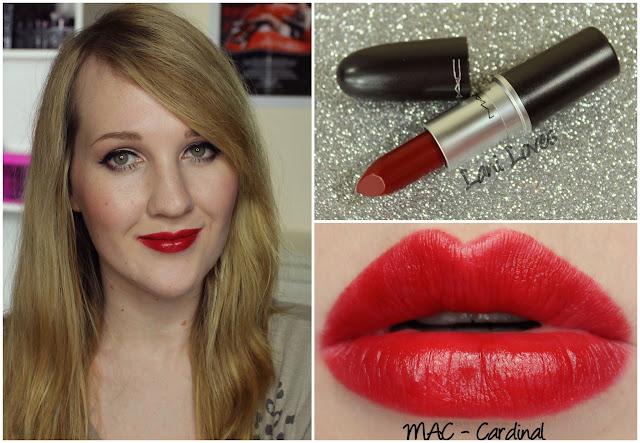 MAC Cardinal lipstick swatch