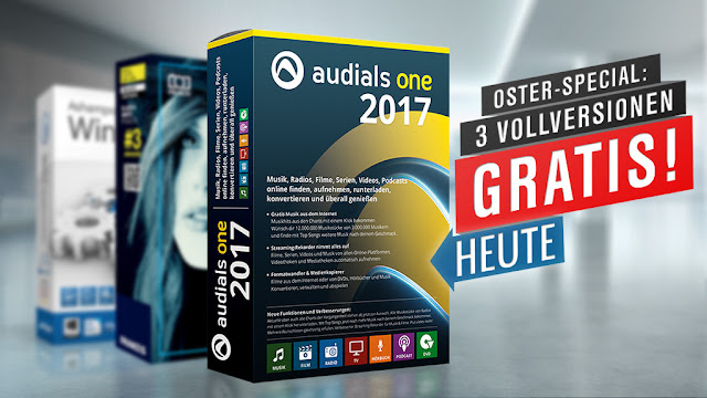 Audials One 2017 - Free Special Version: Complete multimedia package!