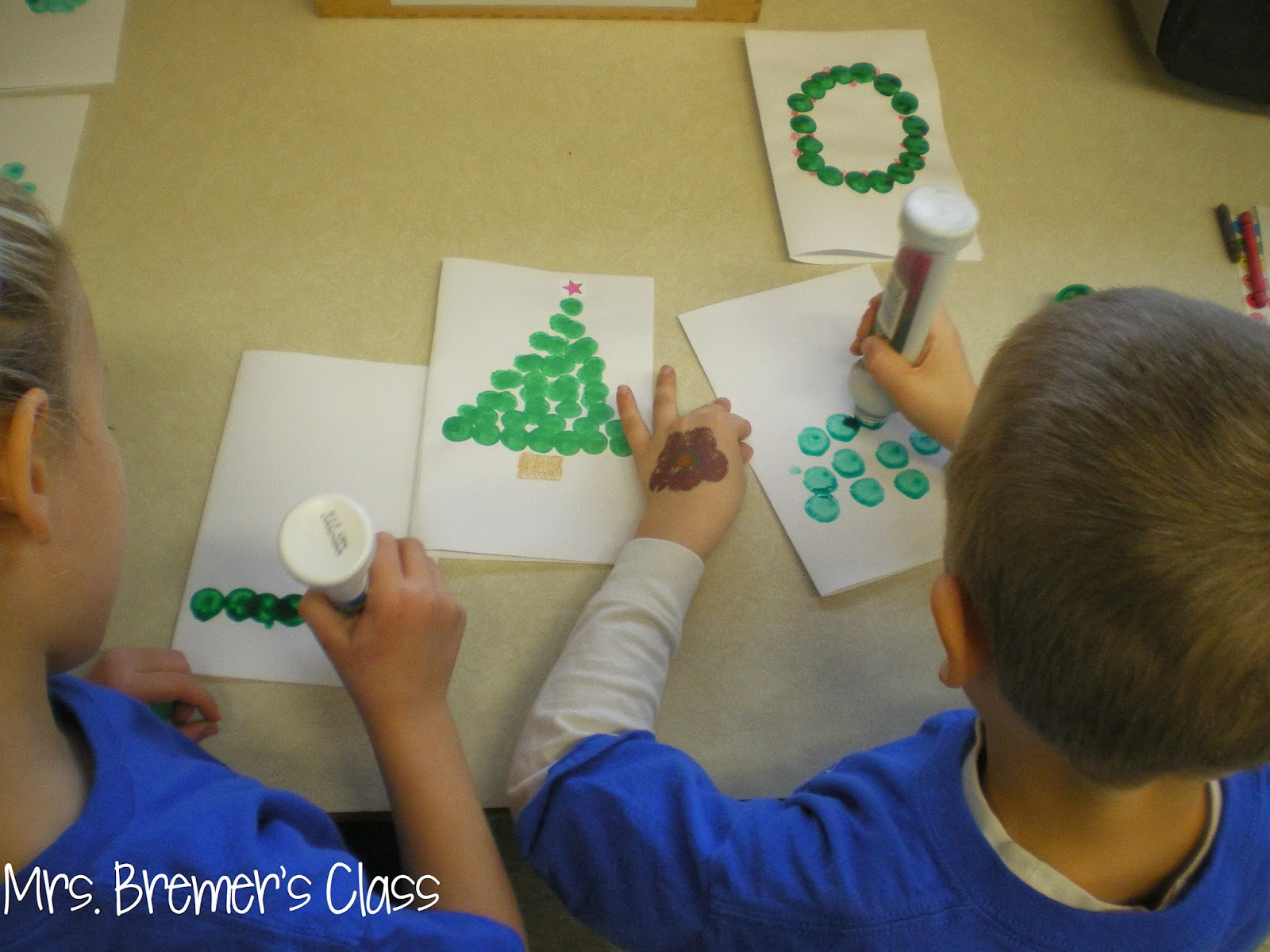 Mrs Bremer S Class No Prep Cute And Easy Christmas Cards