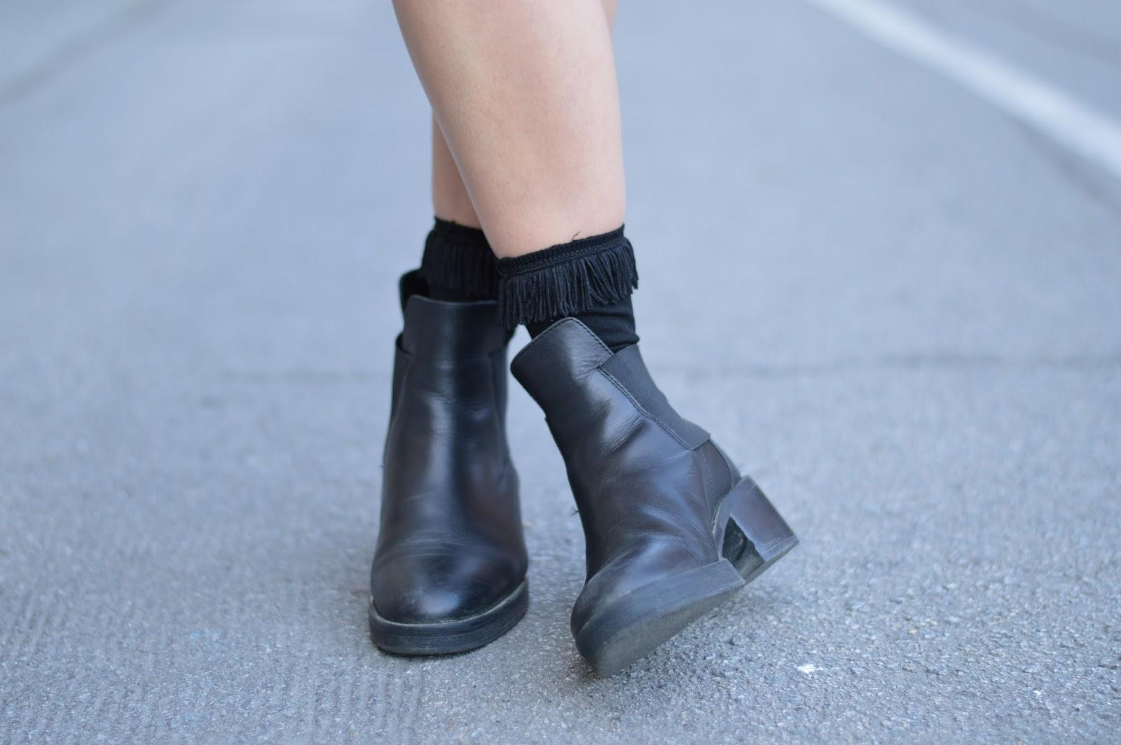 Chelsea boots and tassel socks