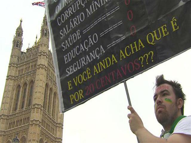 Algumas imagens marcantes das manifestações em todo o país