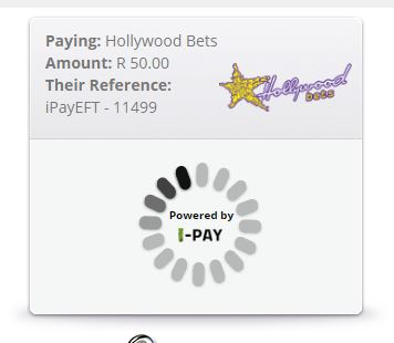 The iPay portal will begin processing your payment into your Hollywoodbets account