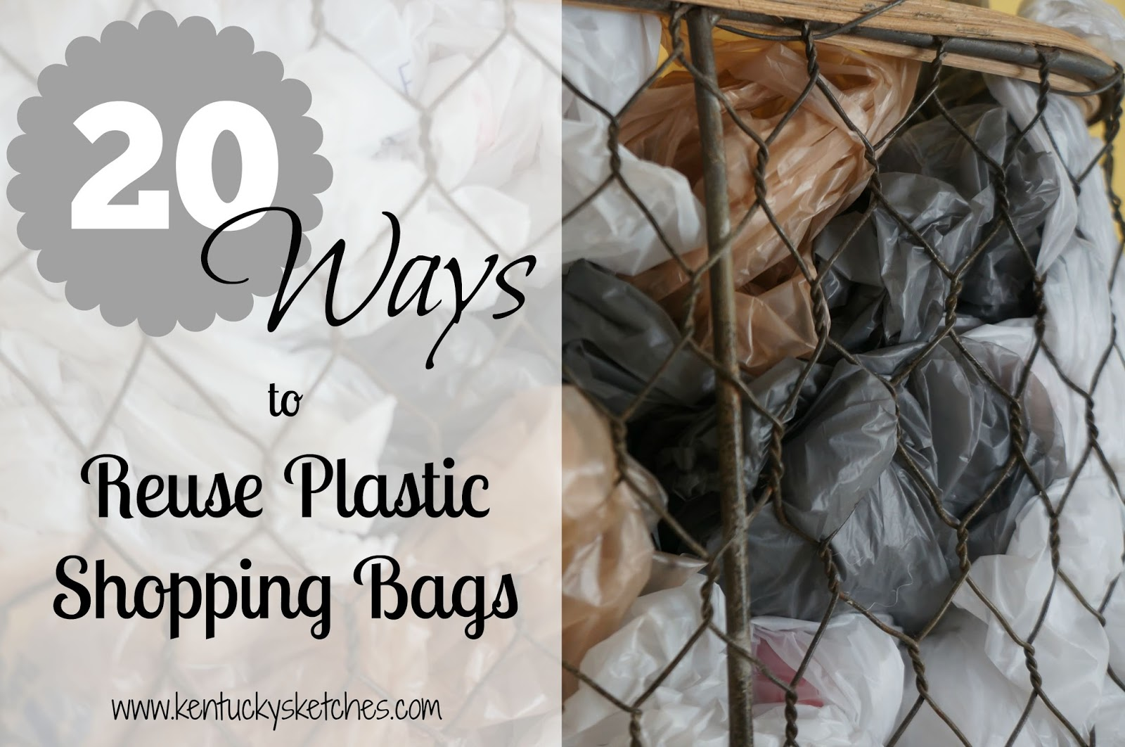 Ways to Reuse Plastic Shopping Bags