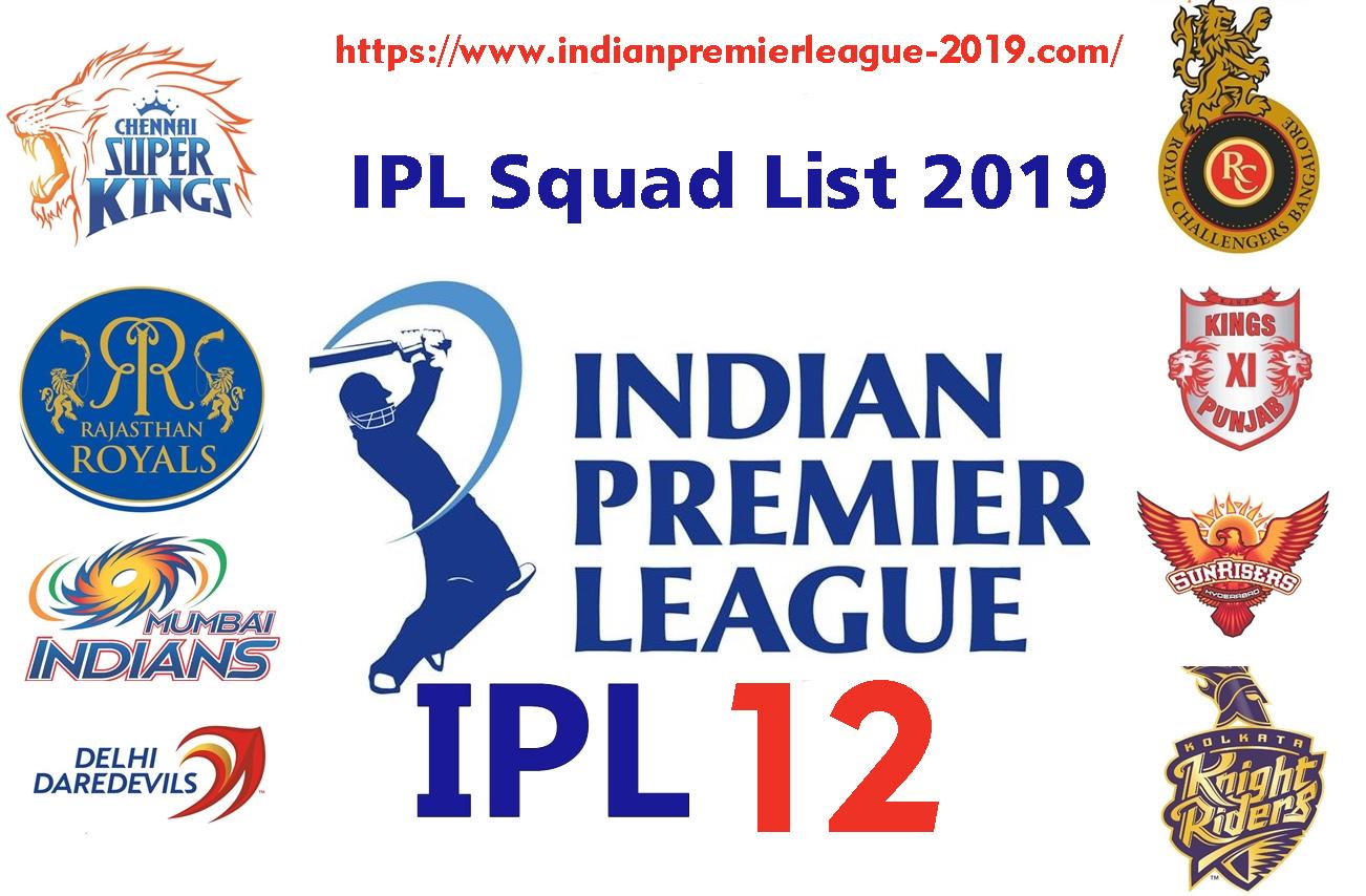 IPL 2019 Teams, Latest, IPL Teams, IPL Squad list 2019, IPL Auctions 2019,