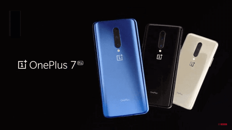 OnePlus 7 Pro in different colors