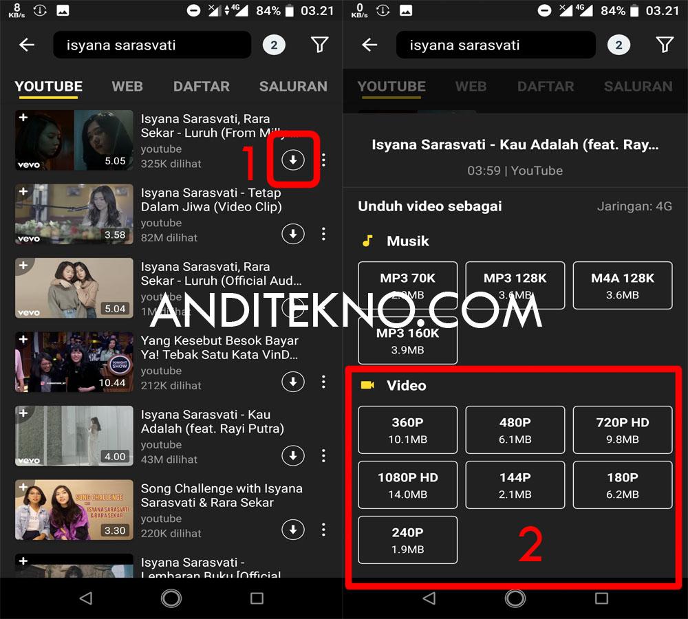 Cara Download Video di Youtube lewat HP Android - AndiTekno