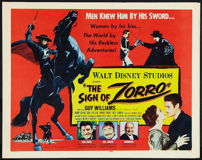 Cartel: El signo del zorro (1958) (The Sign of Zorro)