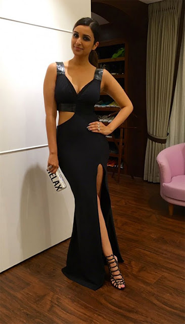 Parineeti Chopra in Thigh High Slit Dress