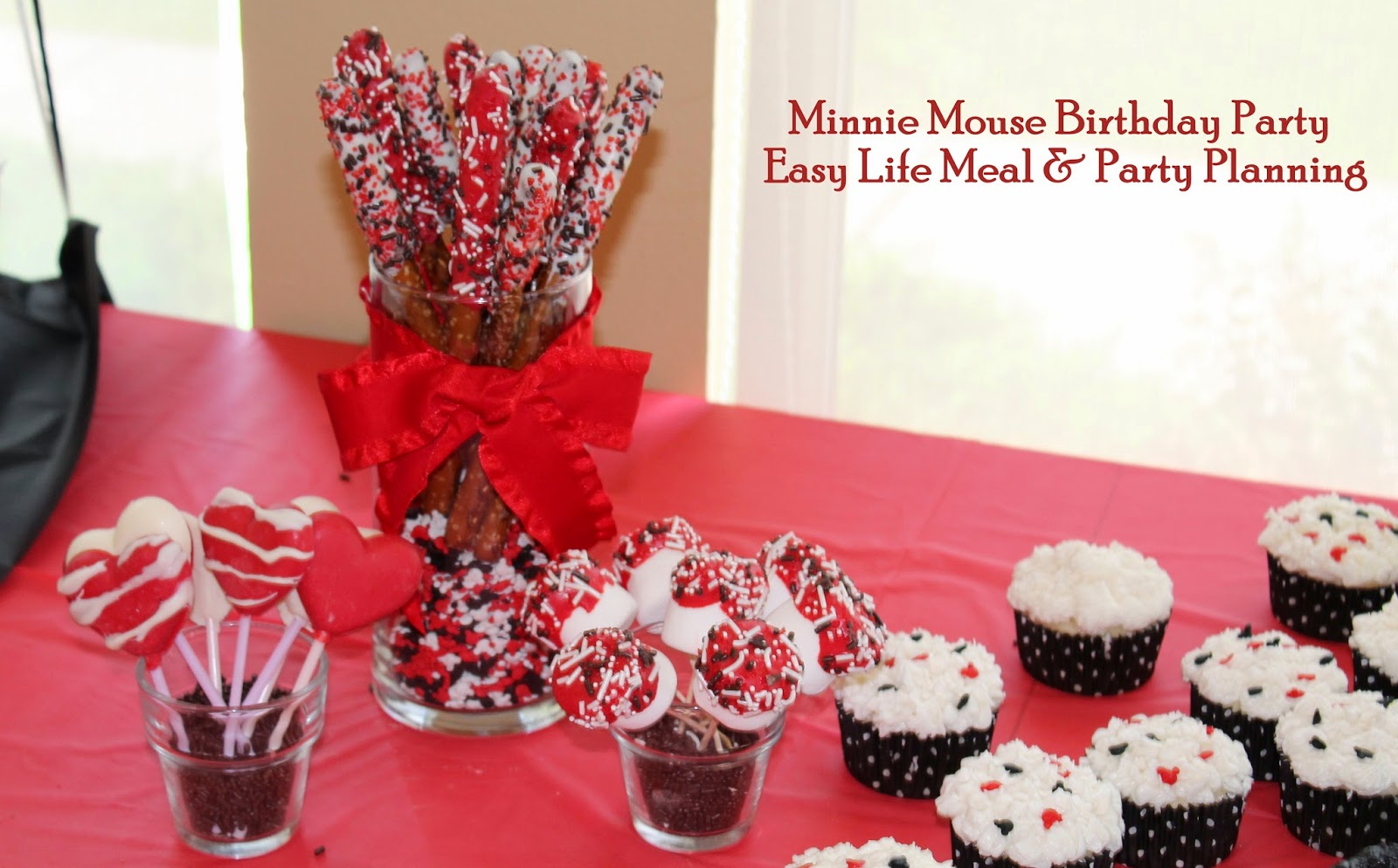 It's a Party - Minnie Mouse Birthday Party - Easy Life Meal & Party Planning