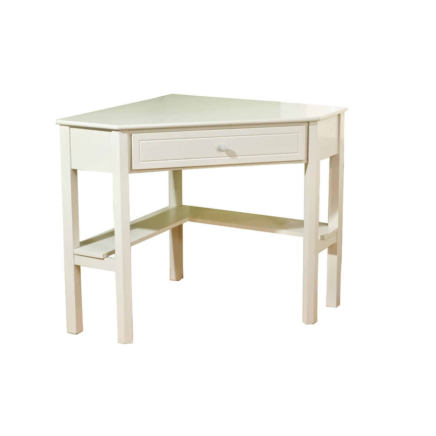 White Corner Desk: White Wood Corner Desk