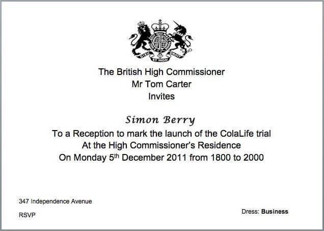 contoh undangan resmi bahasa inggris