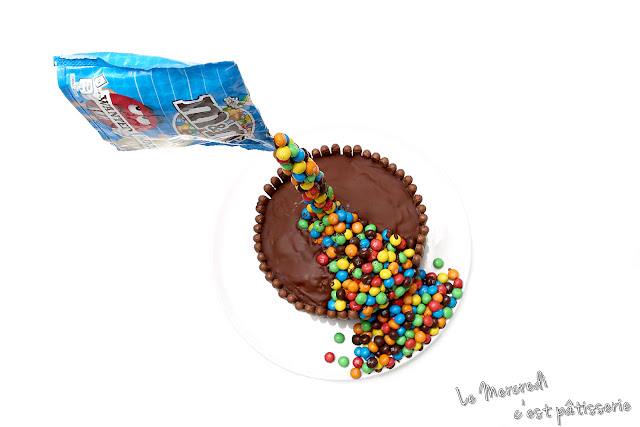 Gravity cake fingers et M&M's