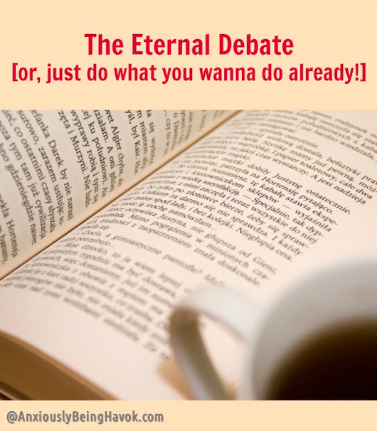 The Eternal Debate [or, just do what you wanna do already!]