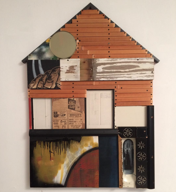 assemblage painting