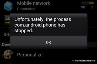 How to fix unfortunately, the process com.android.phone has stopped on an MTK phone