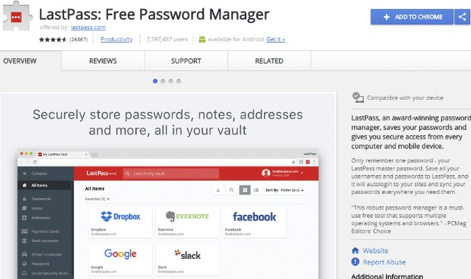 Ekstensi Google Chrome tuk Pelajar - LastPass