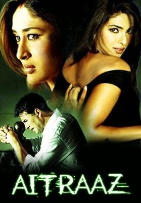 Poster Of Bollywood Movie Aitraaz (2004) 300MB Compressed Small Size Pc Movie Free Download worldfree4u.com
