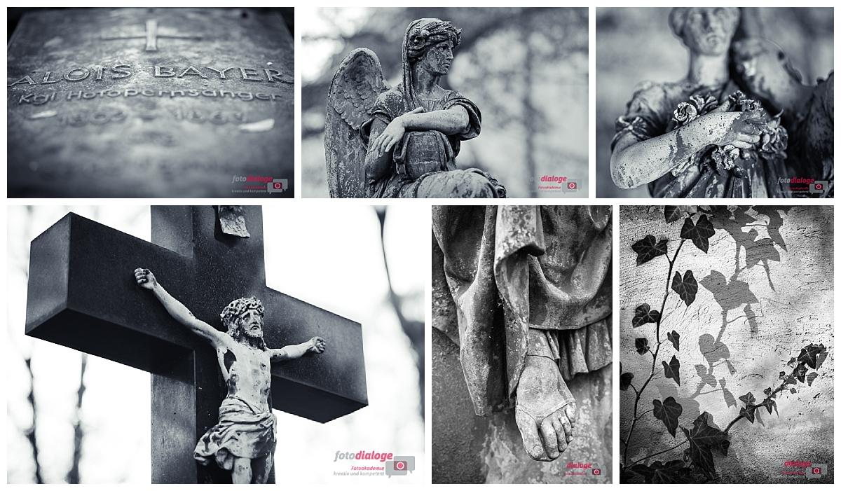 Fotokurs der Fotoschule Fotodialoge auf dem Alten Südfriedhof in München