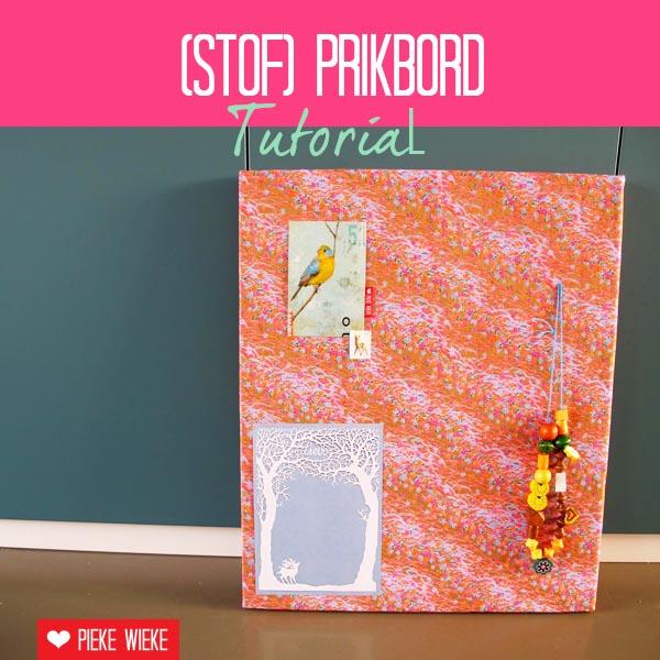 Pieke Wieke: Hoe zelf een stoffen prikbord maken, foto tutorial