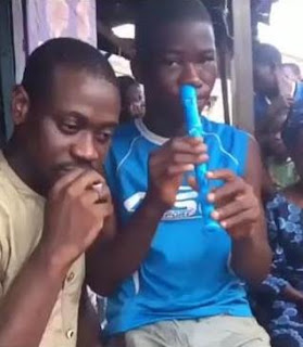 Footballer Emmanuel Adebayor offers to help boy who plays flute with his nostrils