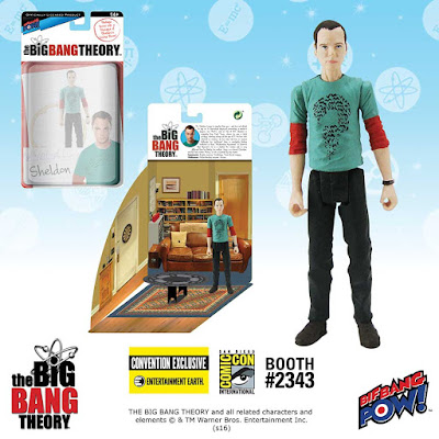 "San Diego Comic-Con 2016 Exclusive The Big Bang Theory ""DC Comics The Riddler T-Shirt"" Sheldon 3 ¾ Action Figure by Bif Bang Pow! x Entertainment Earth – Superman, Shazam & The Riddler"