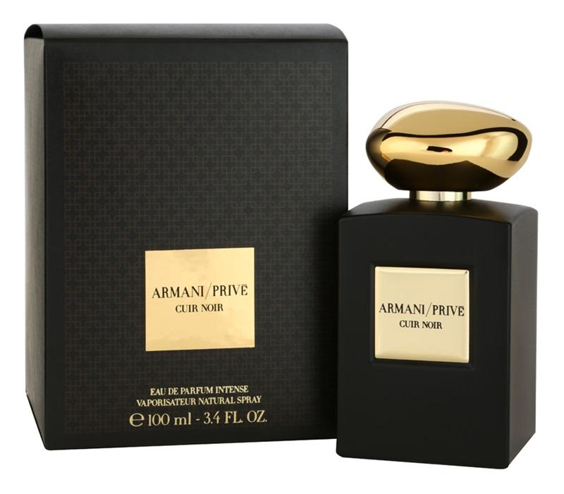 Mroczna elegancja Armani Prive Cuir Noir