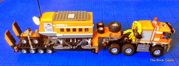 LEGO brick Articulated trailer lorry with mobile laboratory