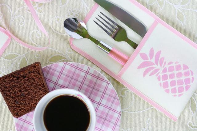 DIY Besteck-Taschen mit Ananas-Motiv