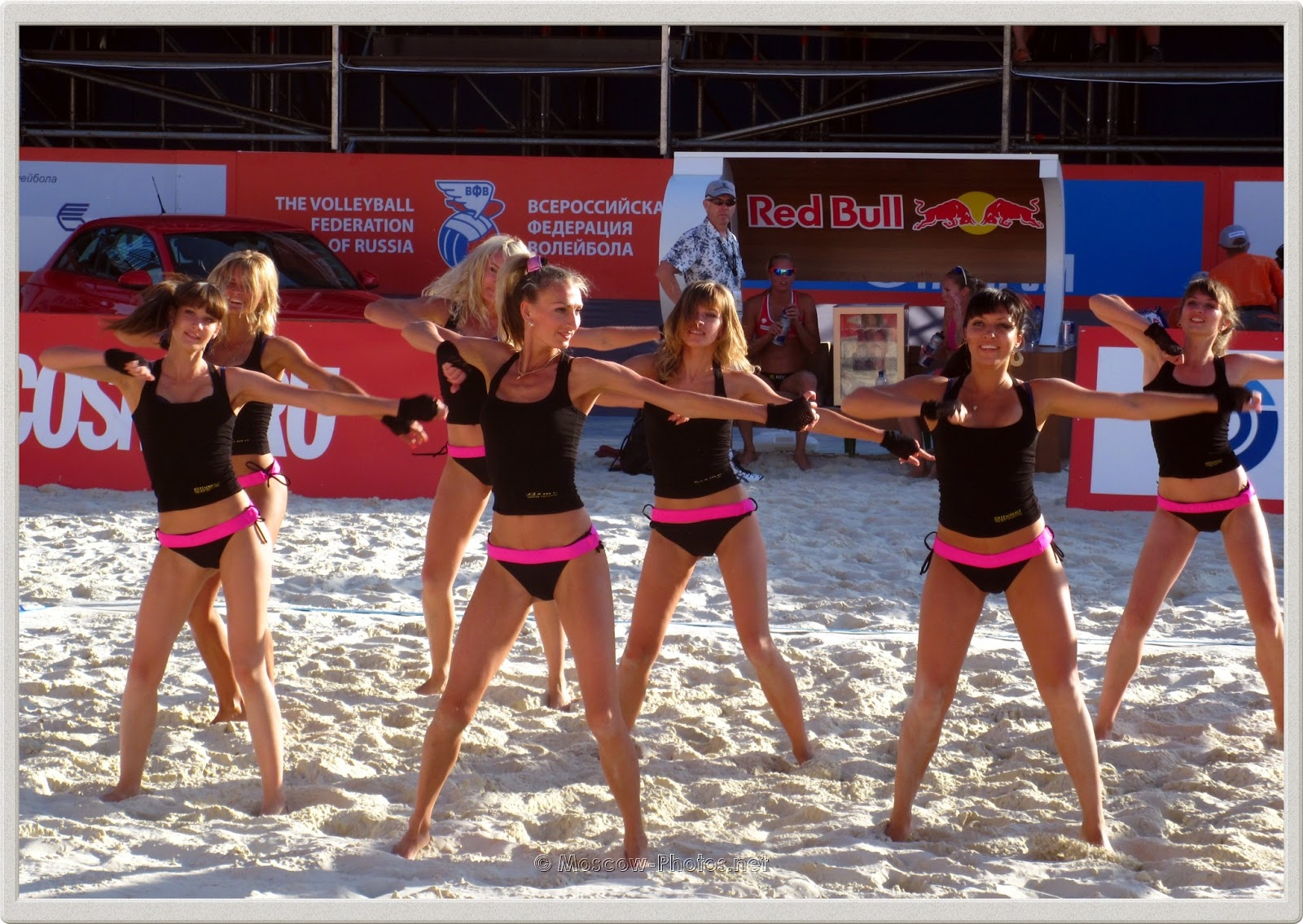 Beach Volleyball Cheerleaders