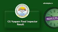 CG Vyapam Food Inspector Result