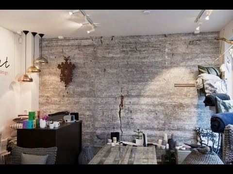 Concrete wall mural grey wallpaper livingroom