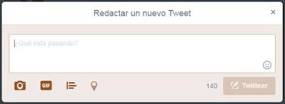 Redactar nuevo tweet