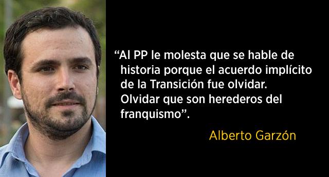 "Alberto Garzón al PP: ""Son herederos del franquismo"""