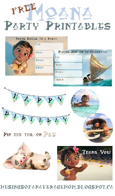 moana birthday printables